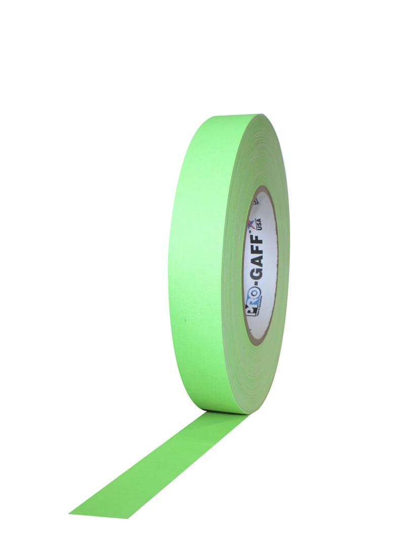 PRO GAFF® Mat platnena traka fluo zelena