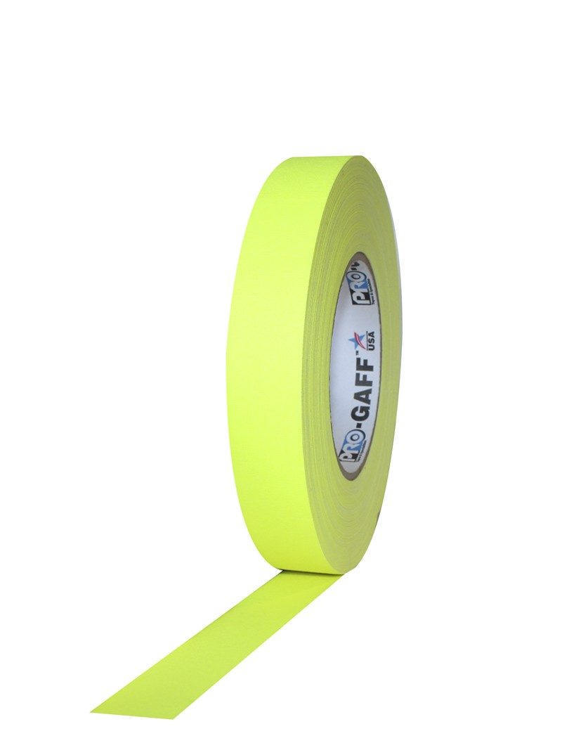PRO GAFF® Mat platnena traka fluo žuta